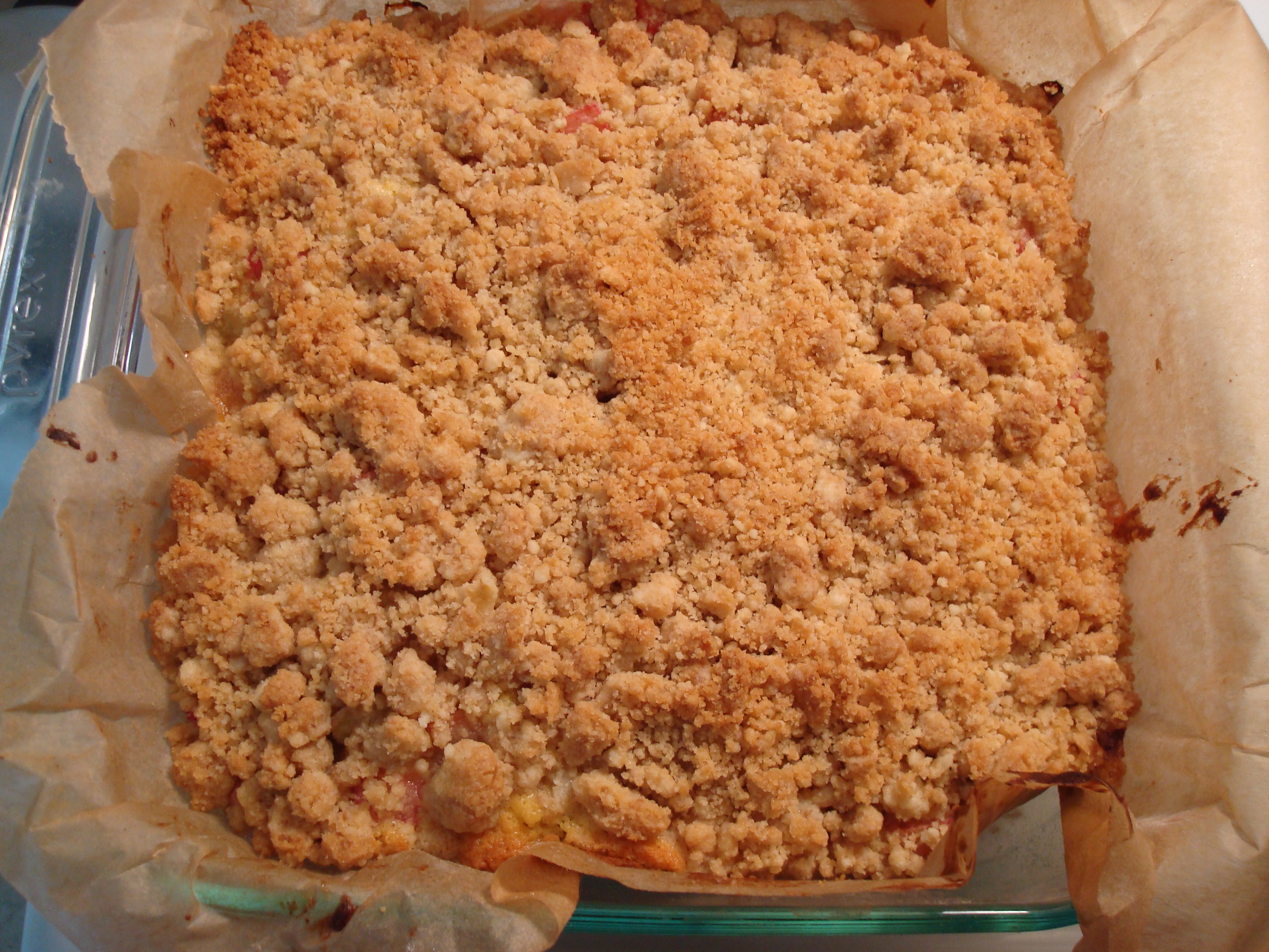 rhubarb crumb bars | Baxter and Main