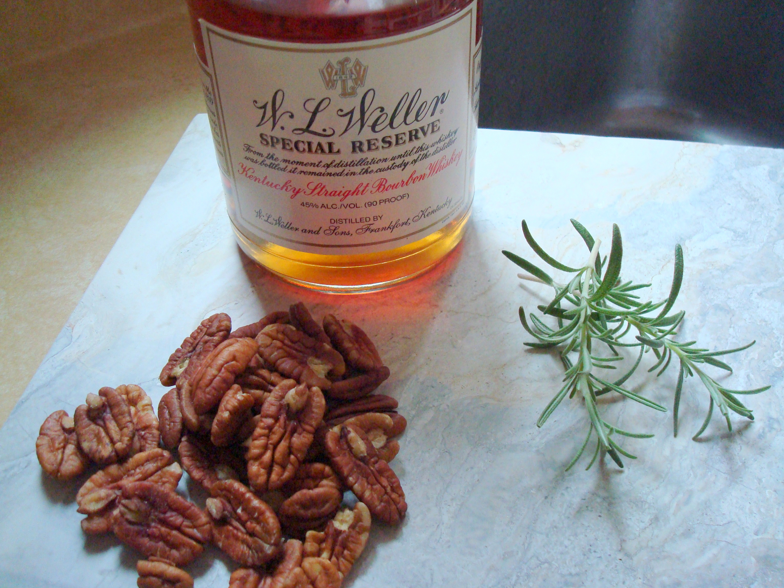 ... potatoes, rosemary, pecans, bourbon. What's not to like in there